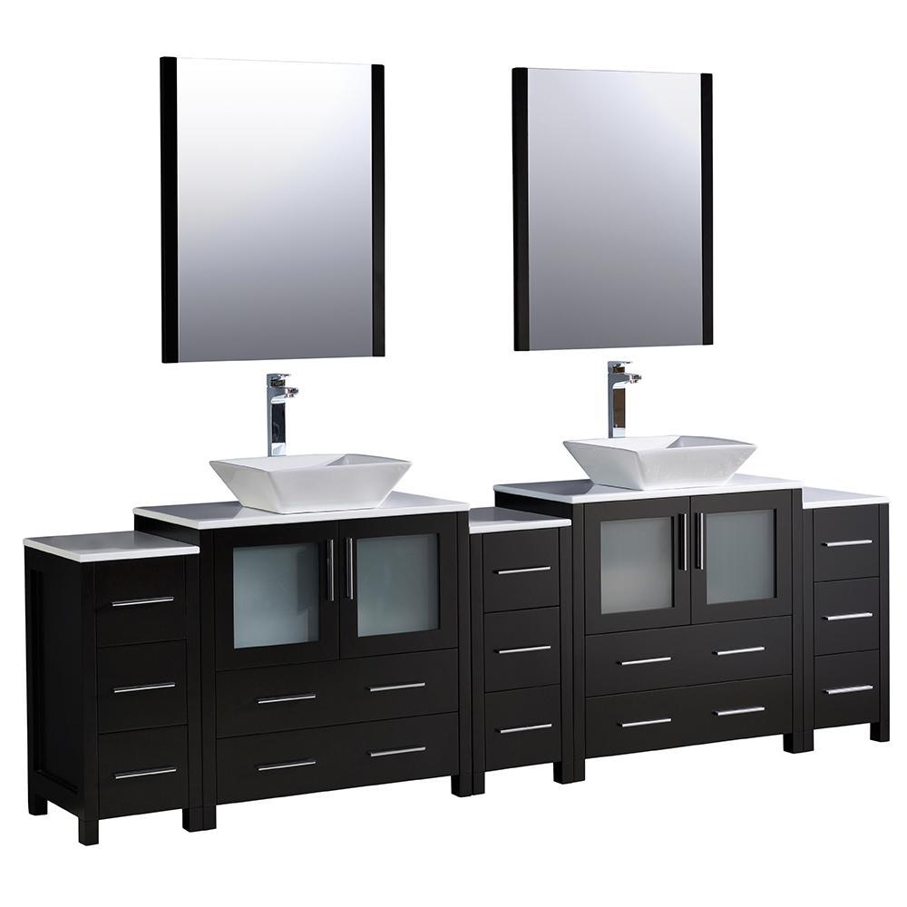 black - vanities with tops - bathroom vanities - the home depot