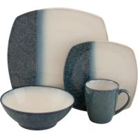Sango Metallics Blue 16-Piece Dinnerware Set-4766-16W ...
