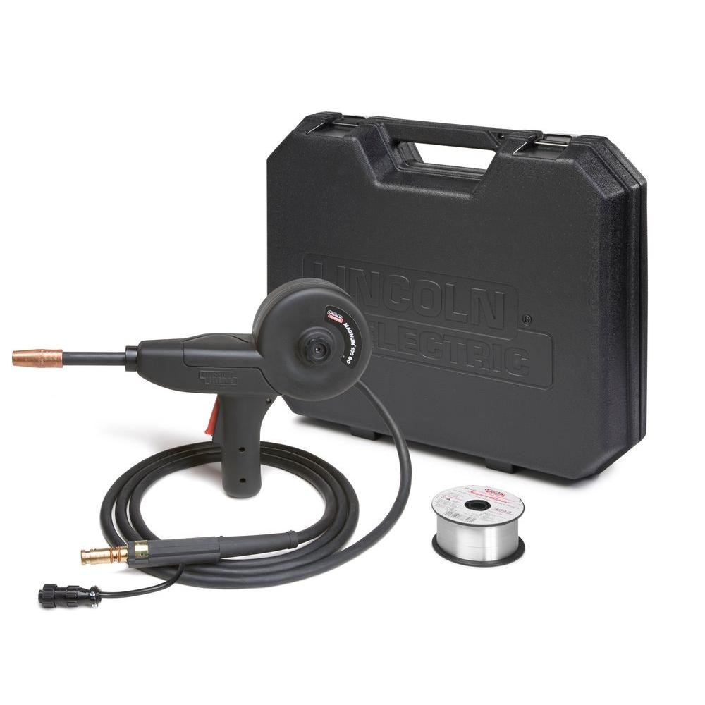 hight resolution of this lightweight spool gun feeds a variety of aluminum alloys and wire diameters