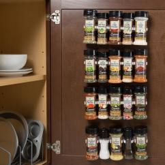Kitchen Spice Rack Flooring Ideas Racks Jars Storage Organization The Home White Organizer