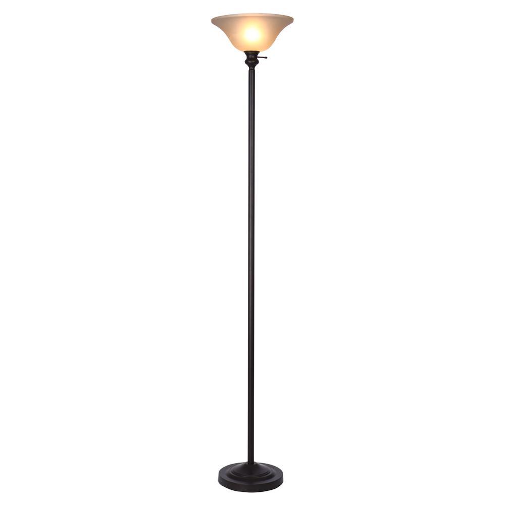 Hampton Bay 7125 in Bronze Torchiere Floor Lamp with