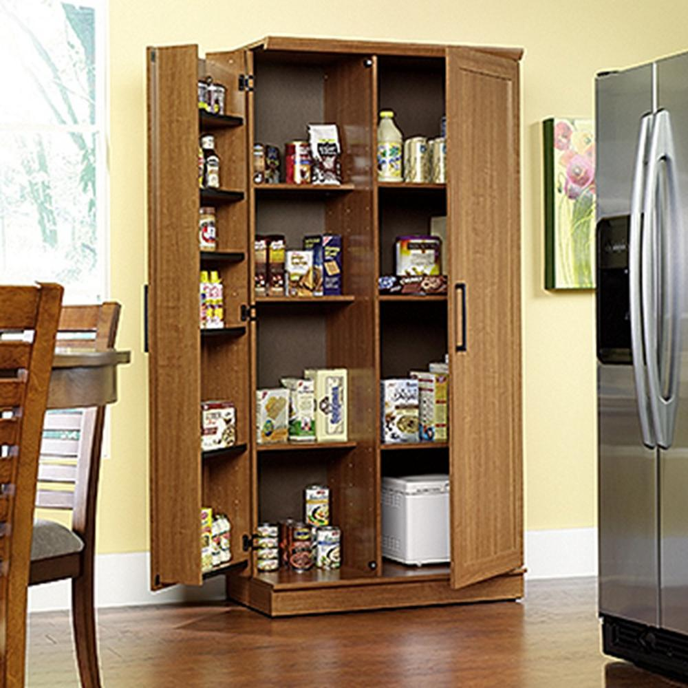SAUDER Home Plus Sienna Oak Storage Cabinet411965  The Home Depot