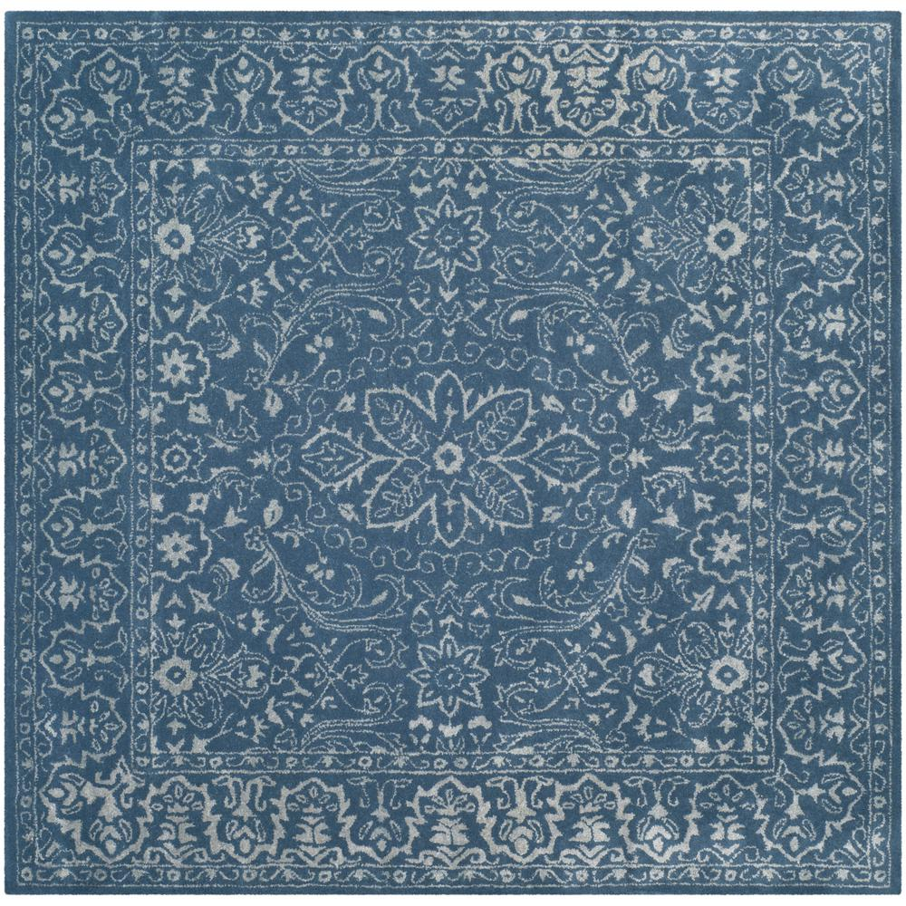 safavieh glamour gray blue 6 ft x 6 ft square area rug glm516d 6sq the home depot