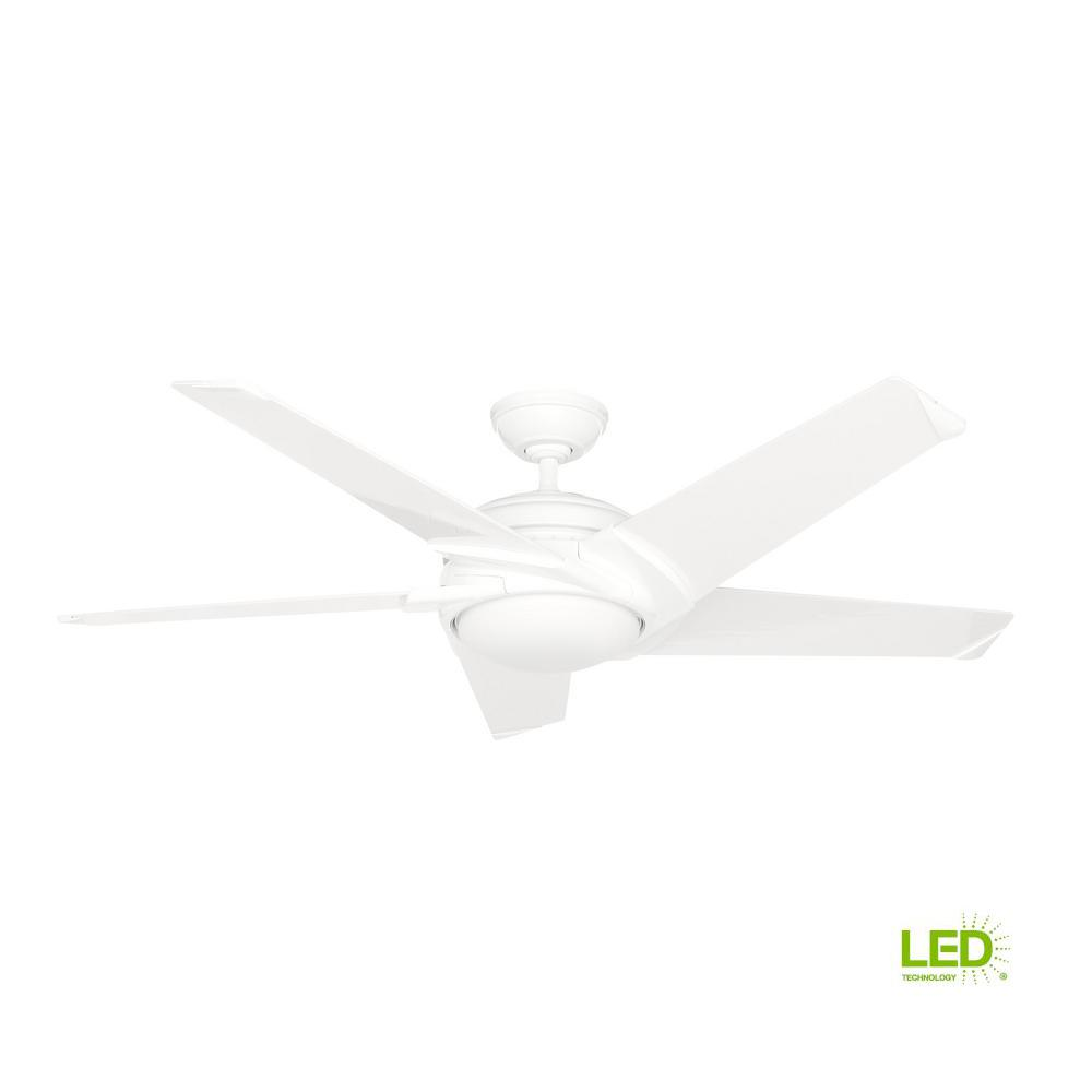 Casablanca Stealth Dc 54 In Led Indoor White Ceiling Fan With Remote