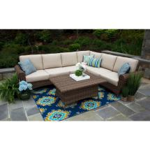 Hampton Bay Granbury 6-piece Metal Outdoor Sectional With