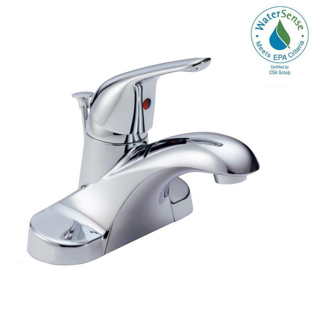 Diagram Of Parts For Single Handle Centerset Bathroom Faucet Models