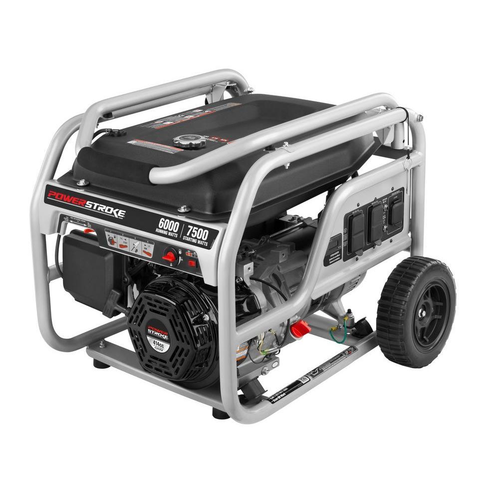 medium resolution of 6 000 running watt gasoline powered portable generator