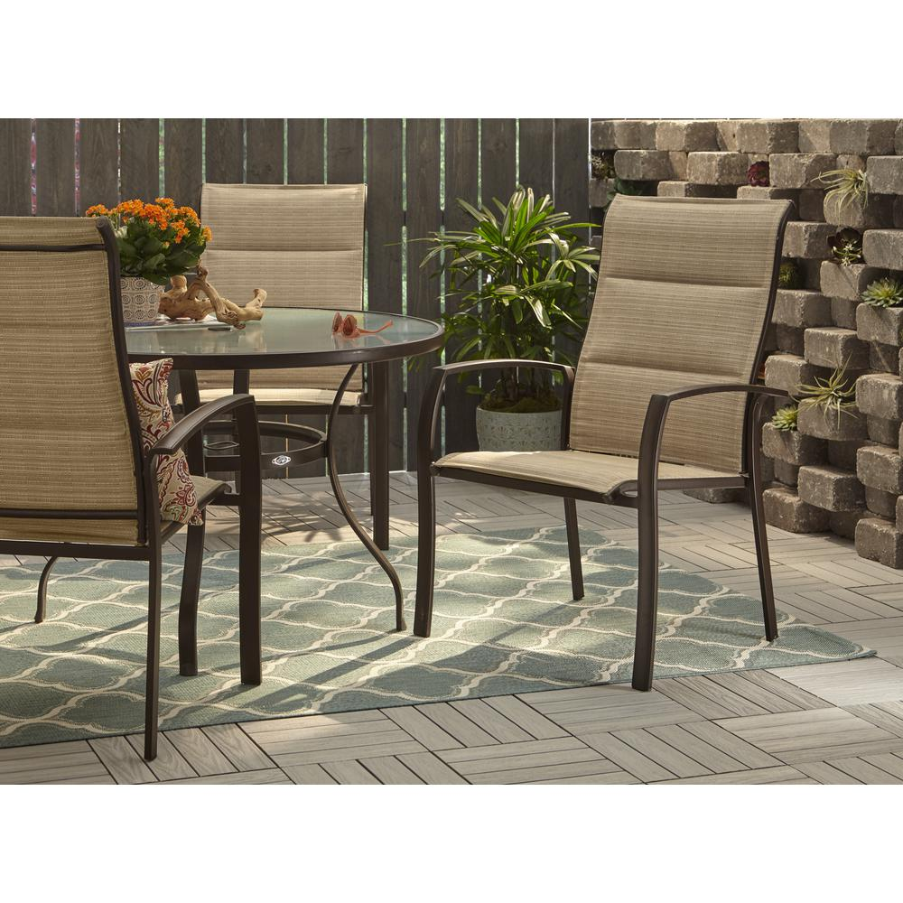 Stacking Dining Chairs Hampton Bay Mix And Match Stackable Oversized Metal Outdoor Dining Chair In Cafe Padded Sling