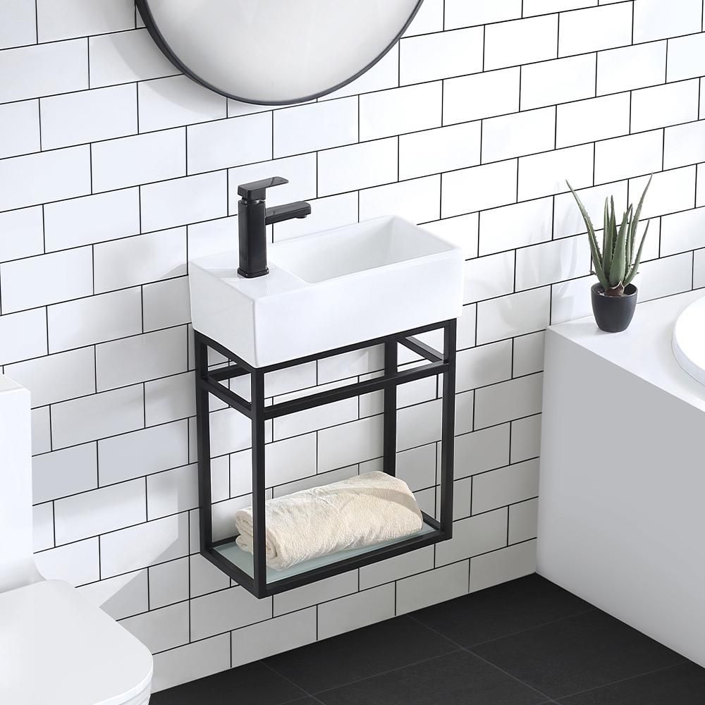 Swiss Madison 19 5 In Pierre Bath Vanity With Vanity Top In Glossy White Basin Sm Bv551 The Home Depot