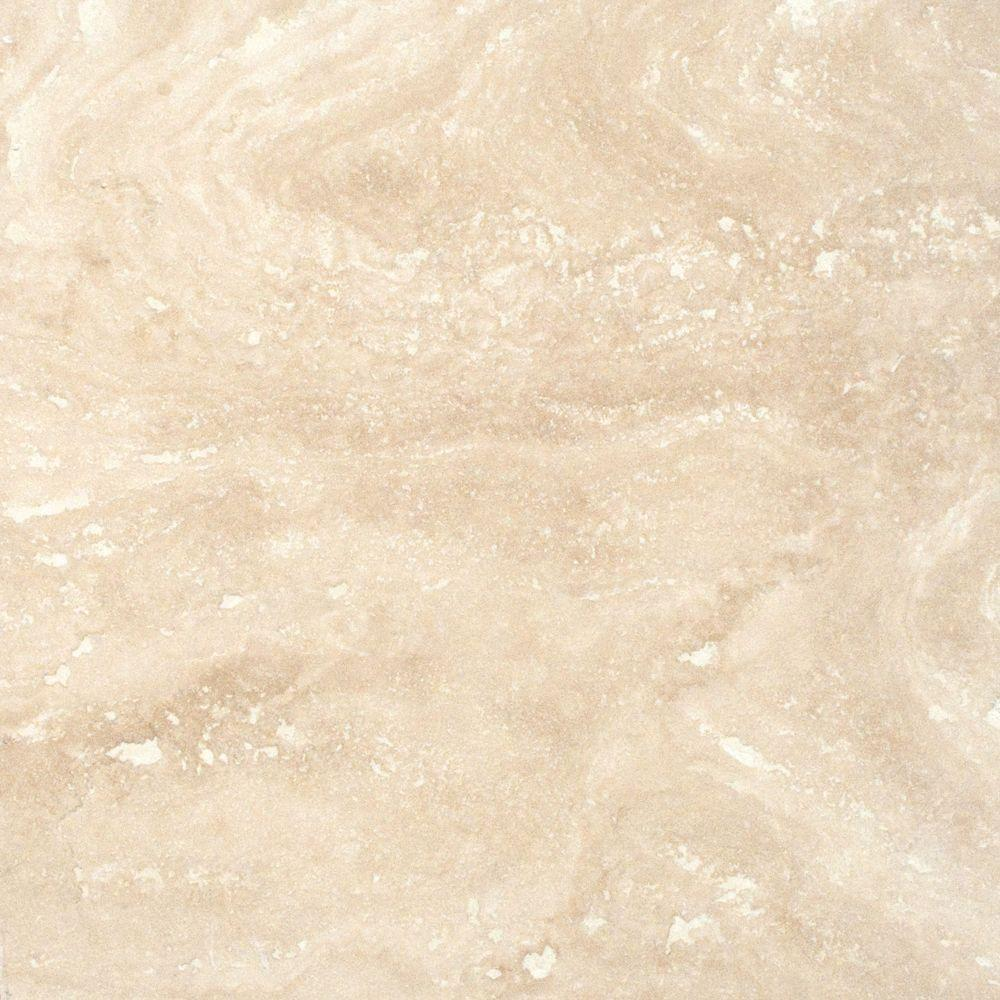 MSI Ivory 12 in x 12 in Honed Travertine Floor and Wall