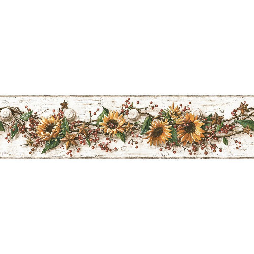 York Wallcoverings Sunflower Wallpaper BorderCB5516BD  The Home Depot