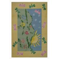 LA Rug Jade Reynolds Dragonfly Morning Multi Colored 39 in ...