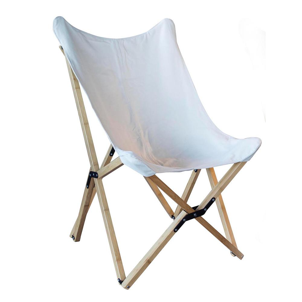 Butterfly Folding Chair Amerihome Black Canvas And Bamboo Butterfly Chair 804072 The