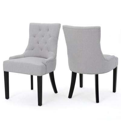 dining room chair fabric marble table and chairs upholstery parsons kitchen hayden light grey set of 2
