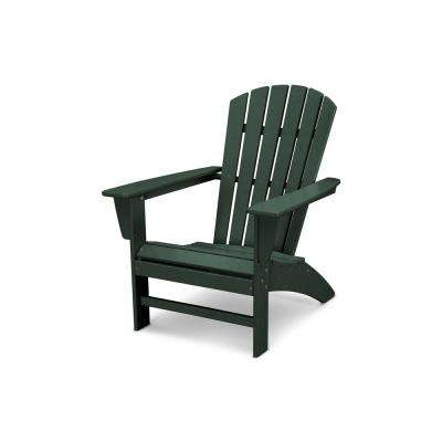 green resin patio chairs large round living room plastic furniture the home depot traditional curveback outdoor adirondack chair