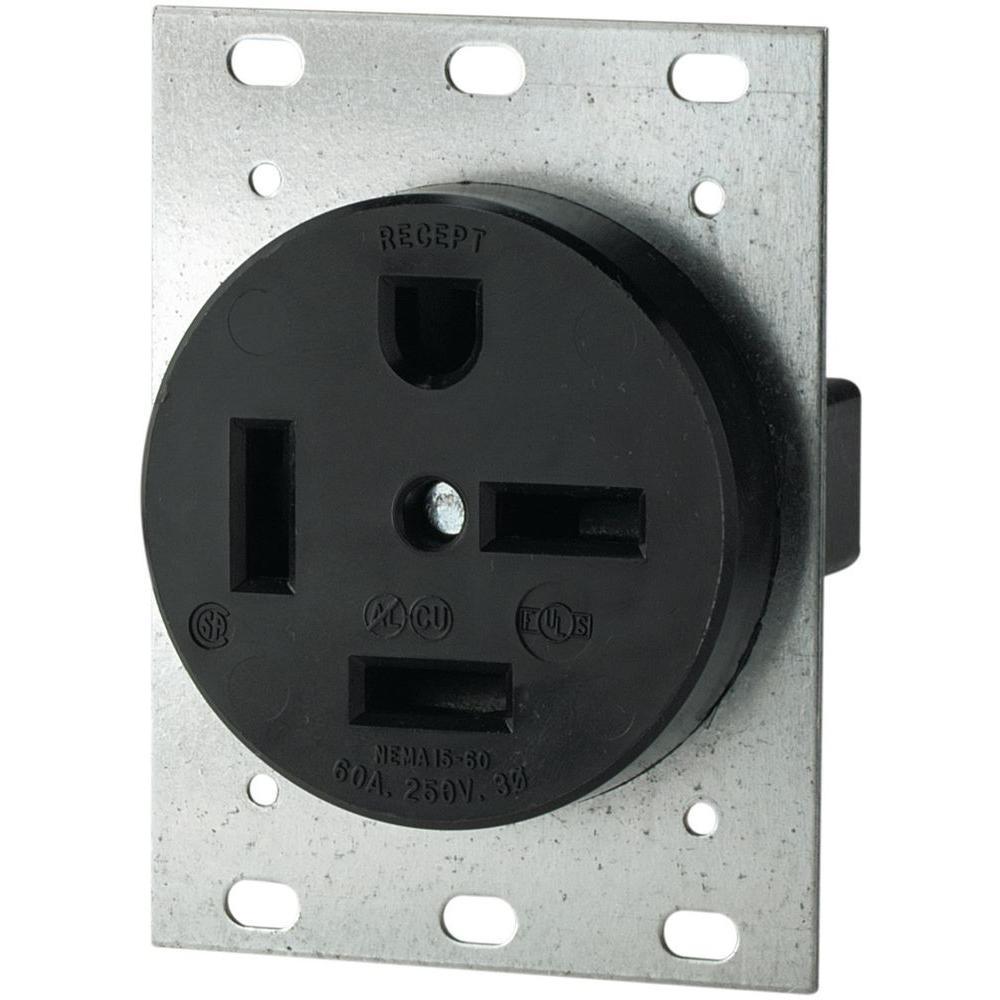 medium resolution of eaton 60 amp 250 volt 15 60 3 pole 4 wire power receptacle 8460neaton 60 amp