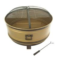 Pleasant Hearth Colossal 36 in. Round Deep Bowl Steel Fire ...