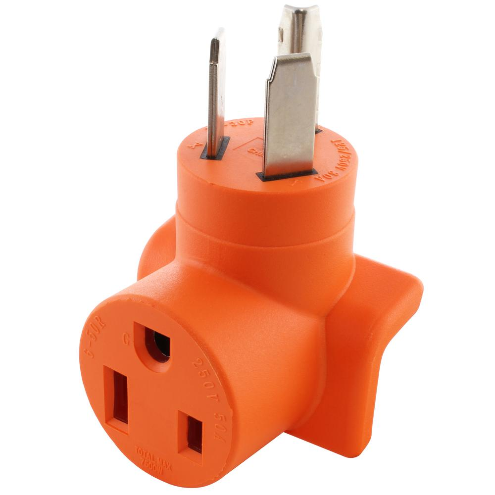 hight resolution of ac works ac connectors nema 10 30 3 prong dryer plug to 6