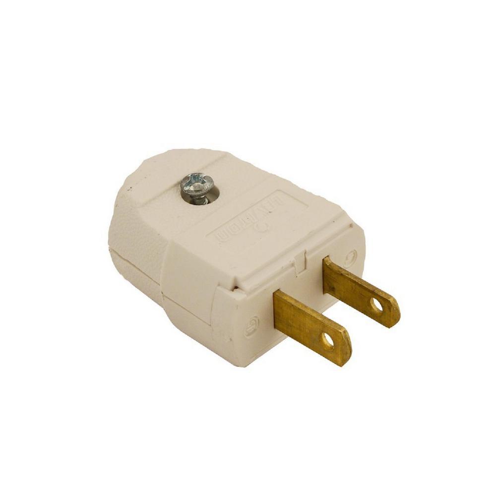 medium resolution of leviton 15 amp 125 volt 2 pole 2 wire polarized plug white
