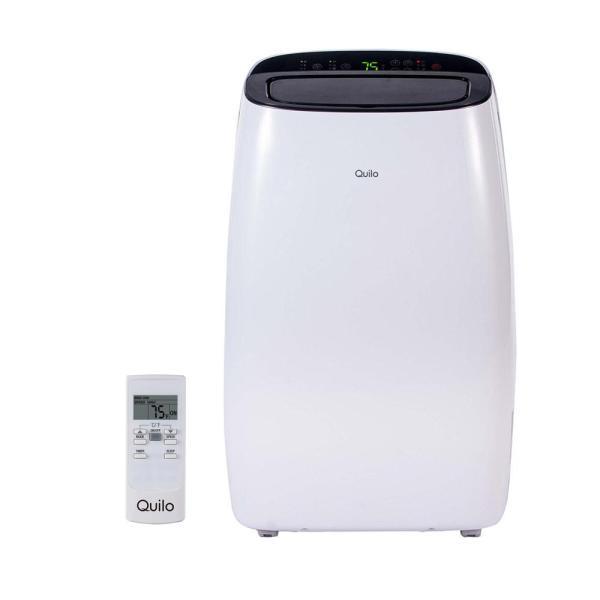 Quilo 12 000 Btu 115-volt Portable Air Conditioner With Remote Control And Dehumidifier In White