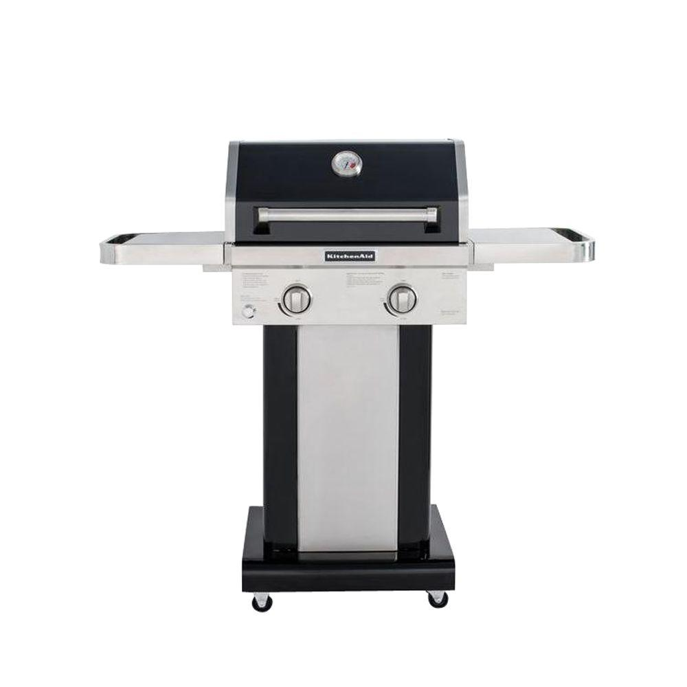 KitchenAid 2Burner Propane Gas Grill in Black with Grill