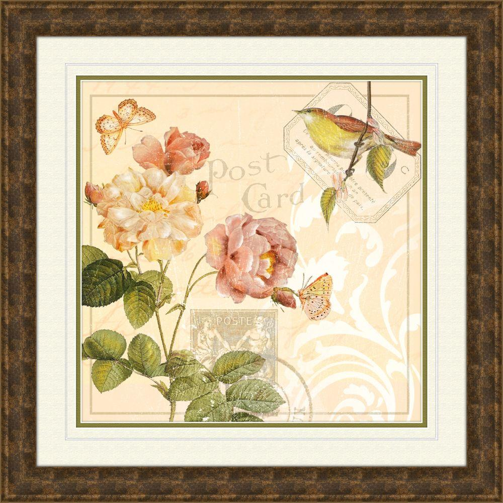 In X In Ivory Floral B Framed Wall Art B The | iltribuno.com