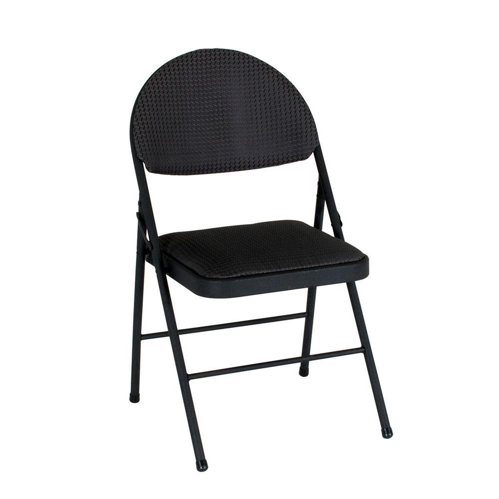 Cosco Black Folding Chair Set of 437975TMS4E  The Home