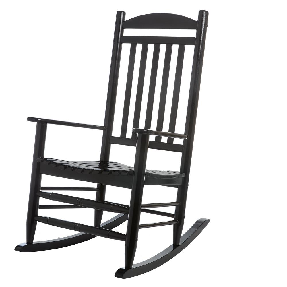 Outdoor Rocking Chair Black the well appointed house