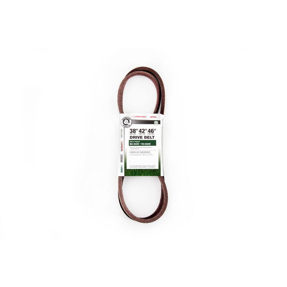 medium resolution of 38 in 42 in and 46 in drive belt replaces o e 954 04249 754 04249 954 04249a 754 04249a