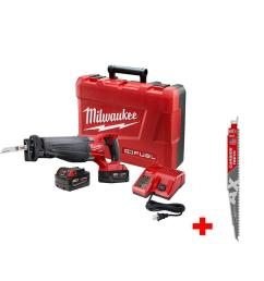 milwaukee m18 fuel 18 volt lithium ion brushless cordless sawzall reciprocating saw kit with [ 1000 x 1000 Pixel ]