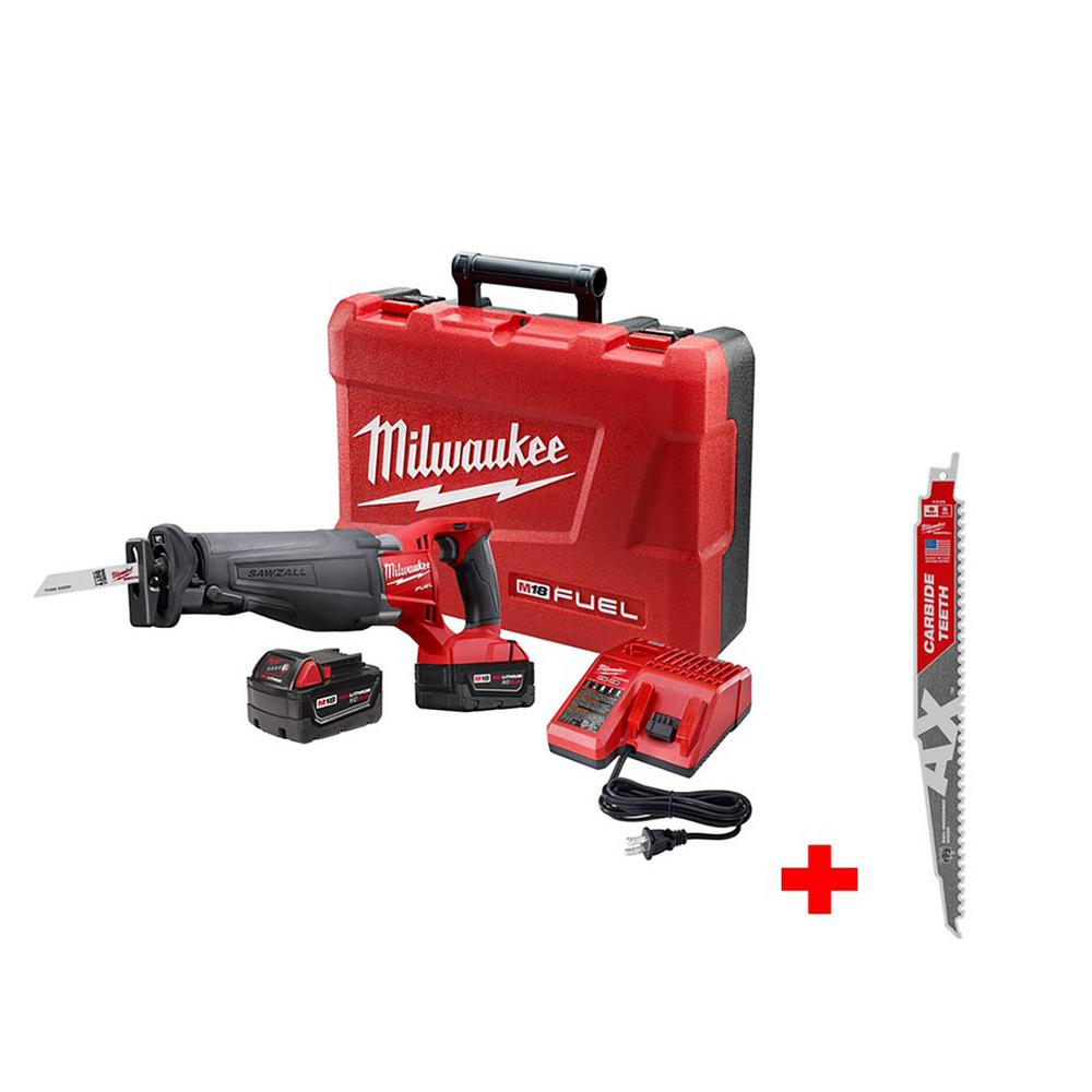 medium resolution of milwaukee m18 fuel 18 volt lithium ion brushless cordless sawzall reciprocating saw kit with