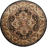 Nourison Delano Black 3 ft. 4 in. Round Area Rug-371041 ...