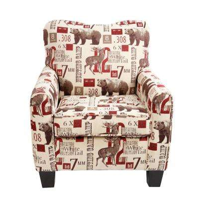 leopard print accent chair gt racing club animal chairs the home depot lantern lodge hunting multi color cabin