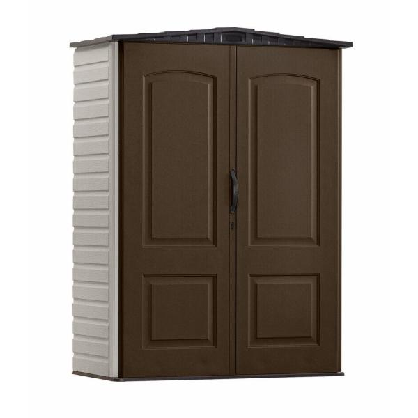 Rubbermaid 2 Ft. 4 In. X 8 Small Vertical Resin Storage Shed-1967660 - Home Depot