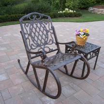 Patio Sense Arria Antique Bronze 3-piece Cast Aluminum