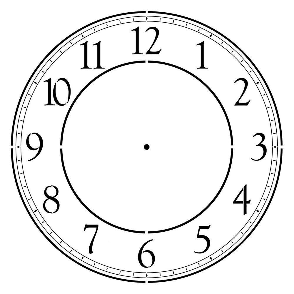 Designer Stencils Contemporary 18 In Clockface Wall