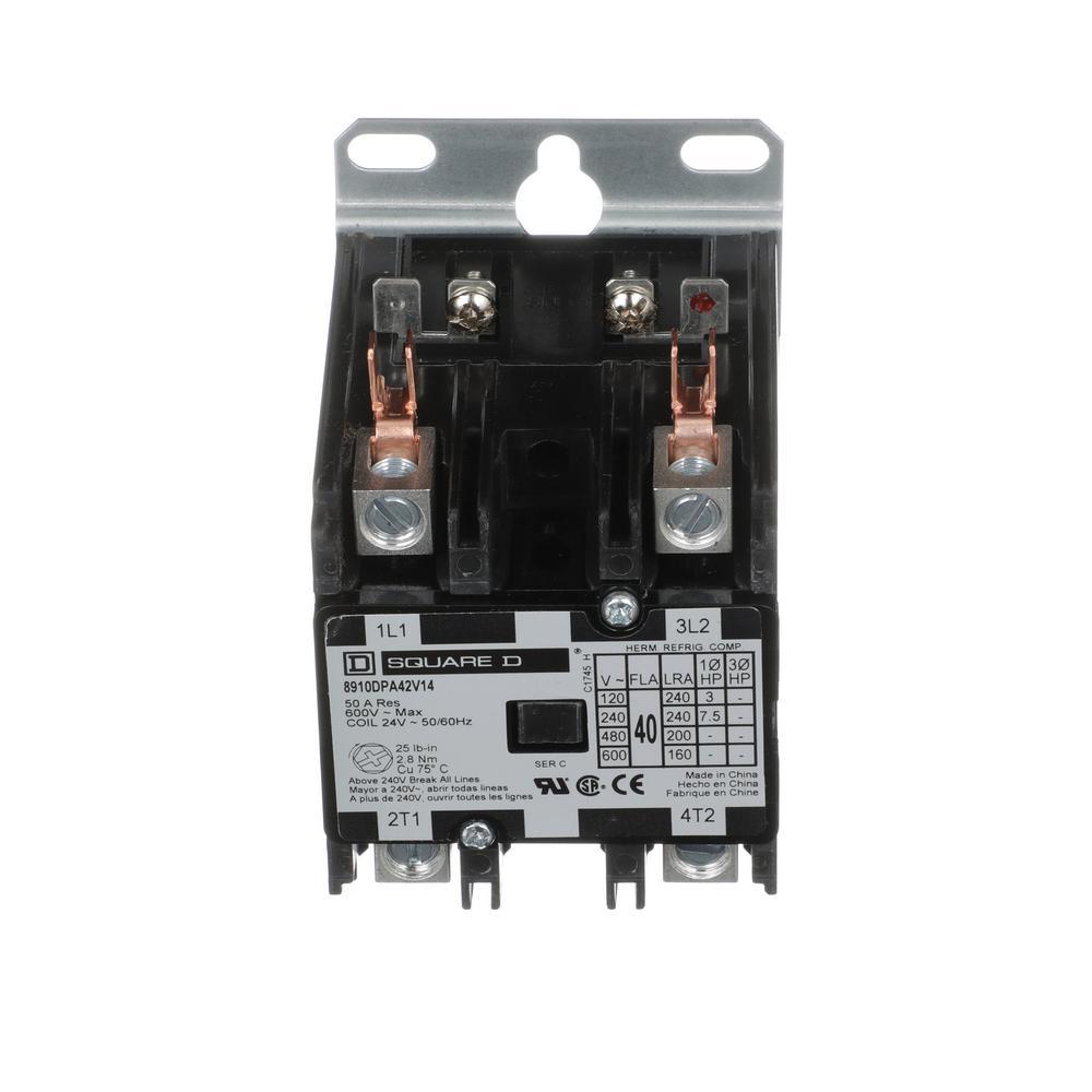 medium resolution of 40 amp 24 volt ac 2 pole open definite purpose contactor 20 pack