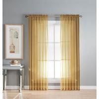 Window Elements Sheer Gold Solid Voile Extra-Wide Sheer ...