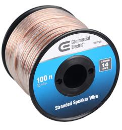 and home speaker wiring ce tech 100 ft 14 gauge stranded speaker wire  [ 1000 x 1000 Pixel ]