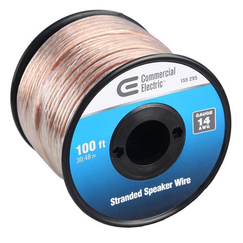 small resolution of  and home speaker wiring ce tech 100 ft 14 gauge stranded speaker wire