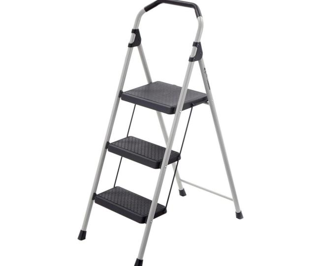 Gorilla Ladders  Step Lightweight Steel Step Stool Ladder With  Lb Load Capacity Type Ii Duty Rating Gls  The Home Depot