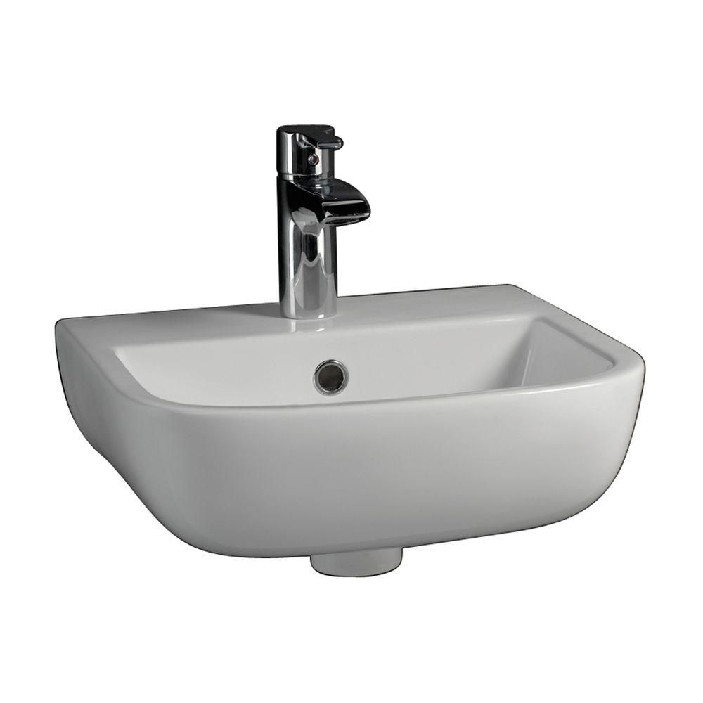 Barclay Products Series 600 Large WallHung Bathroom Sink in White4221WH  The Home Depot
