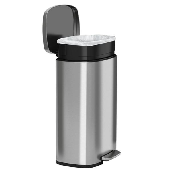 13.2 Gallon Step Trash Kitchen Stainless Steel Garbage Bin Touchless Pedal 814839020500