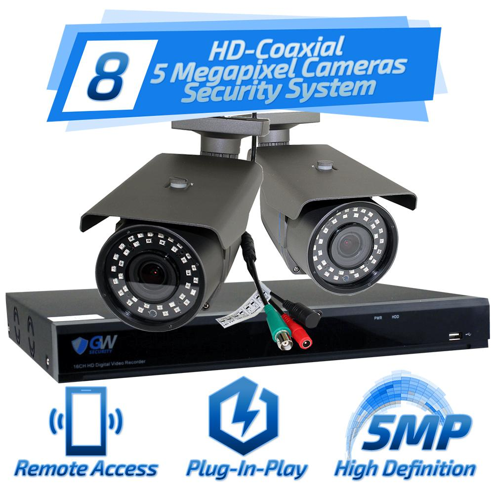 medium resolution of 8 channel hd coaxial security system with 8x gw561hd 5 mp cameras 3 3
