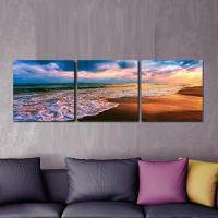 """Furinno 16 in. x 48 in. """"Beach Sunset"""" Printed Wall Art ..."""
