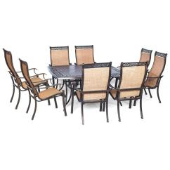 Low Back Lawn Chair 9 Modern Pub Table And Chairs Hanover Manor Piece Square Patio Dining Set Mandn9pcsq The Home