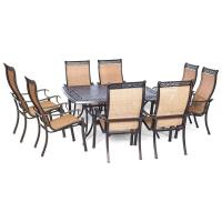 Hanover Manor 9-Piece Square Patio Dining Set-MANDN9PCSQ ...