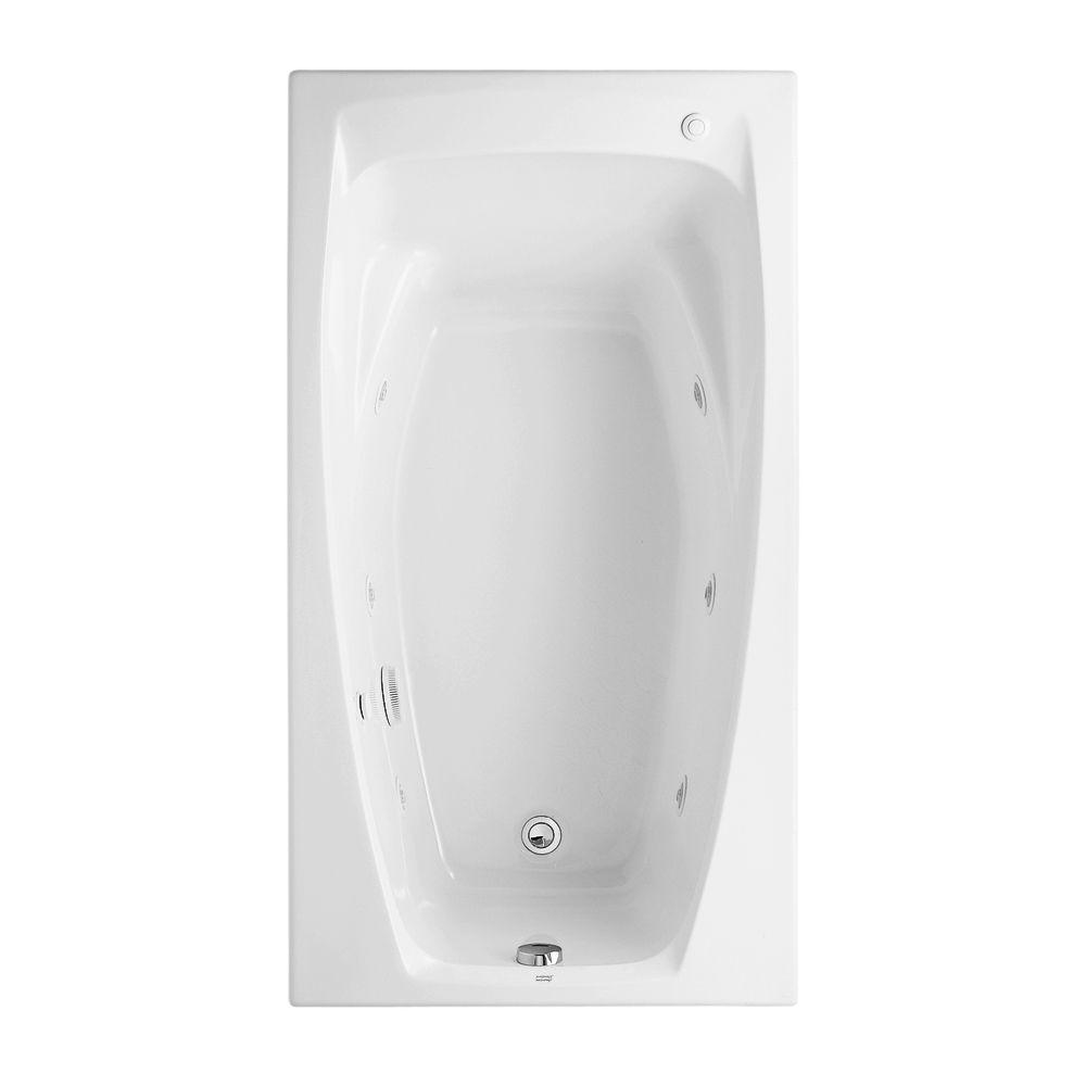 American Standard Colony 60 in x 32 in Reversible Drain Whirlpool Tub in White2675018020