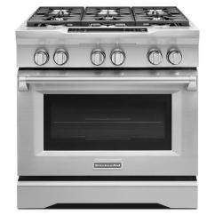 Kitchen Aid Ovens Tables Round Kitchenaid 5 1 Cu Ft Commercial Style Slide In Dual Fuel Range With