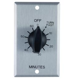 defiant 20 amp 60 minute in wall spring wound timer switch with stainless steel [ 1000 x 1000 Pixel ]